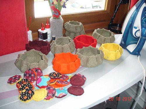 Felted Urchin bowls